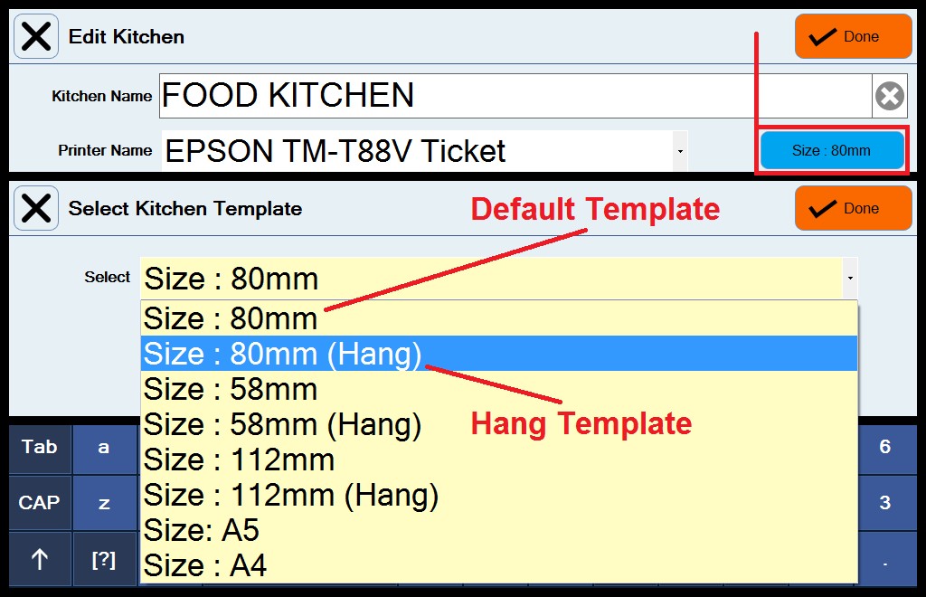 FAQ How to send orders to kitchen printers – Ticket Size Template